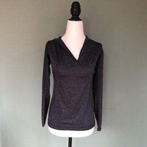 Zella V neck dark grey long sleeved shirt